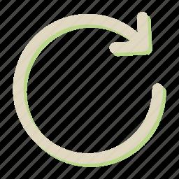 arrrow, refresh, reload, sync, synchronization icon
