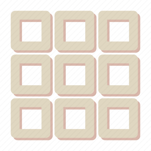 design, grid, interface, layout icon