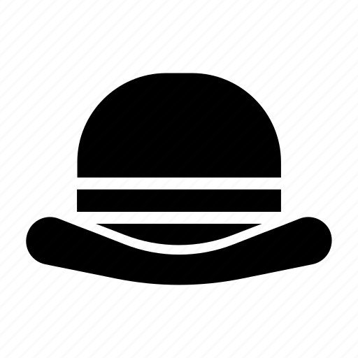 bob, bowler, gentleman, hat, round icon