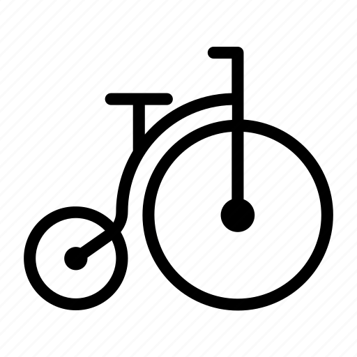 bicycle, farthing, high, penny, retro, wheeler icon