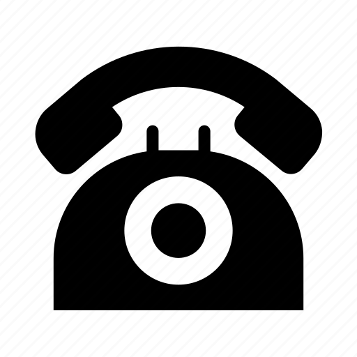 dial, disk, phone, retro, rotary, telephone icon