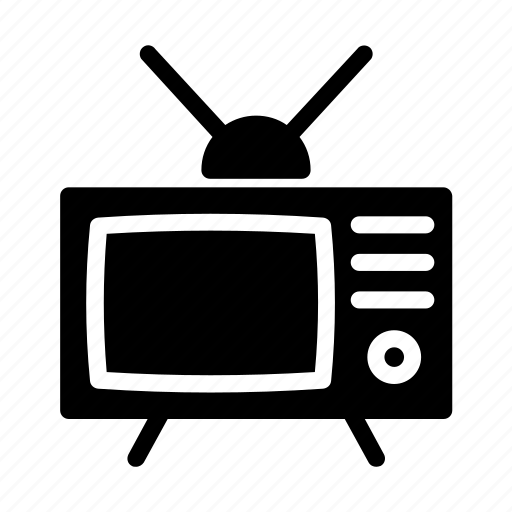 retro, television, tube, tv, vintage icon