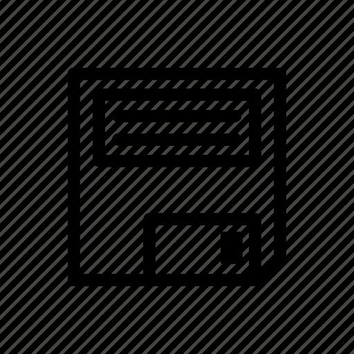 computer, disk, disquette, floppy, memory, retro icon