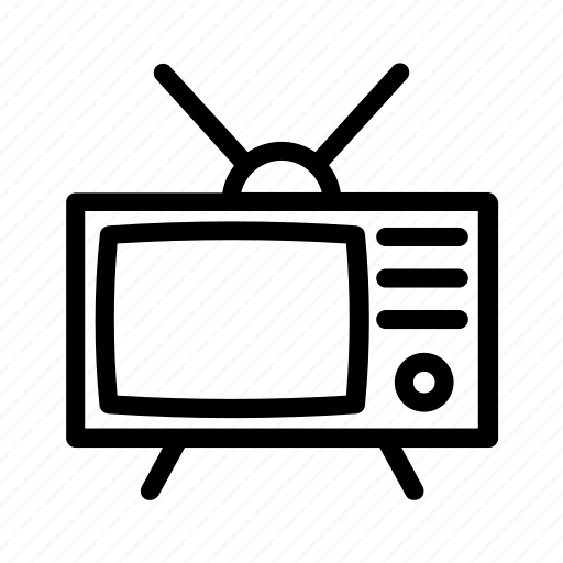 retro, television, tube, tv, vintage icon
