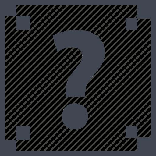 box, mark, question icon