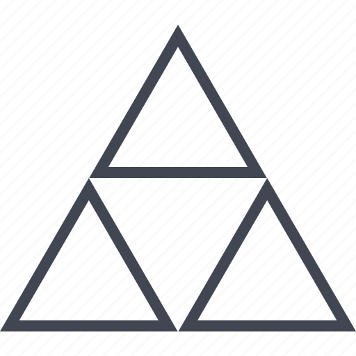 link, power, three, triangles icon