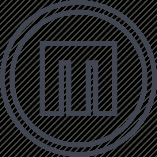 block, m, sign, video icon
