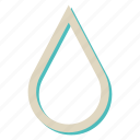 drop, rain, sea, water icon
