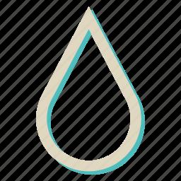 drop, rain, sea, water icon