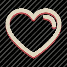 heart, love, romance, valentine icon