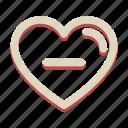 heart, minus, romance, love, valentine