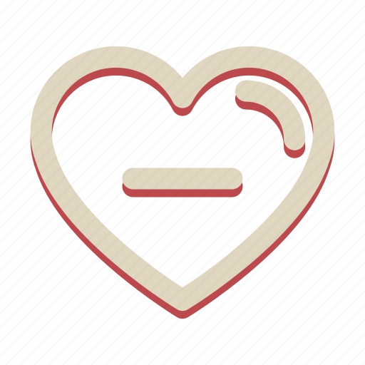 heart, love, minus, romance, valentine icon