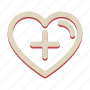 add, heart, love, plus, valentine icon