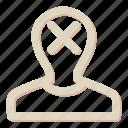 avatar, cross, person, profile, user icon