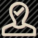 approve, avatar, man, ok, person, profile icon