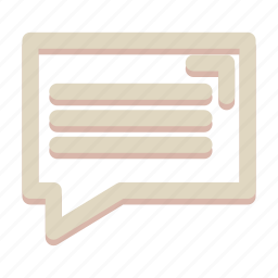 bubble, chat, communication, speech, talk icon