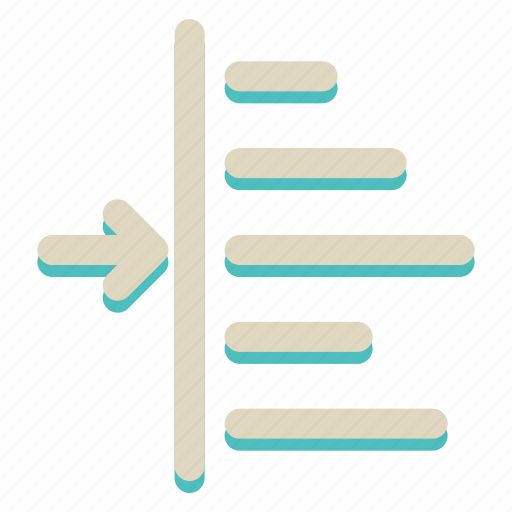 align, left, sign icon