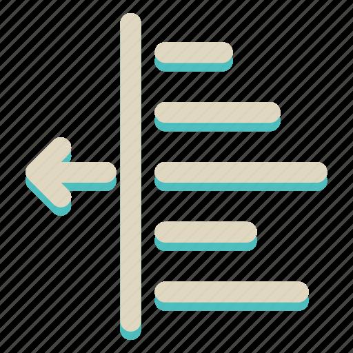 align, right, sign icon