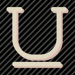 design, edit, underline icon