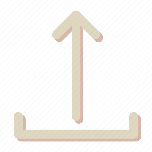 arrow, cloud, direction, file, upload icon