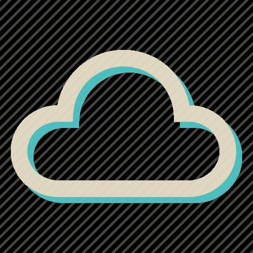 cloud, computing, storage, weather icon