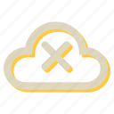 cloud, computing, cross, network, storage icon