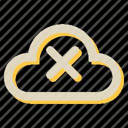 cloud, computing, cross, network, storage icon