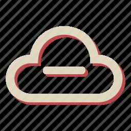 cloud, computing, data, minus, network, storage icon