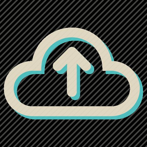 cloud, computing, data, storage, upload, weather icon