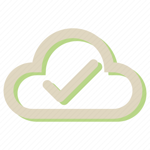 approve, cloud, computing, network, ok, social icon