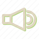 loudspeaker, megaphone, sound icon