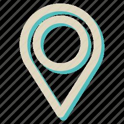 location, marker, market, navigation, pin icon