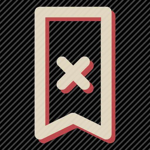 cancel, close, delete, rebbon, ribbon icon