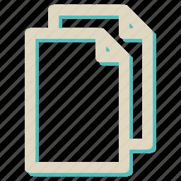 copy, extension, file, paper, paste icon