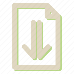 arrow, download, file, format, seo icon