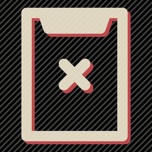 cancel, checklist, delete, remove icon