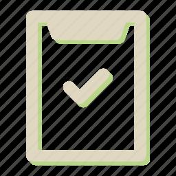 checklist, clipboard, extension, file, seo icon