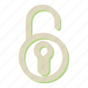 key, password, secure, security, unlock icon
