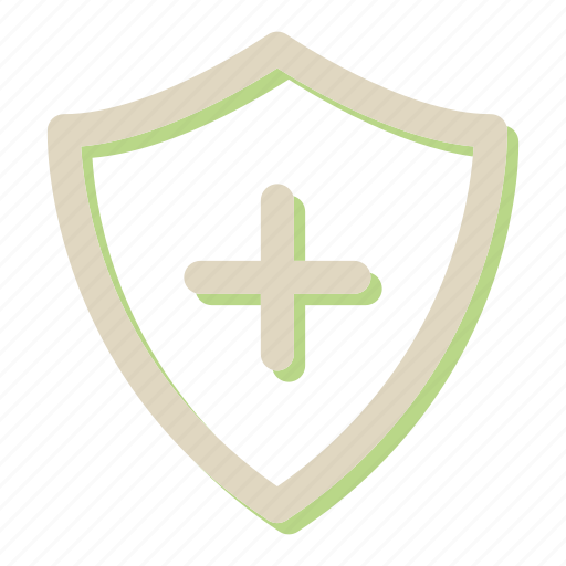 add, new, protection, shield icon