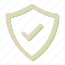 approve, protection, secure, security, shield icon