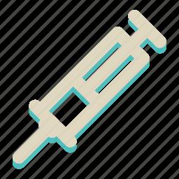 flu, health, hospital, medical, needle, shot, syringe icon