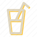 coffee, cup, glass, magnifying, search icon