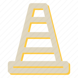 cone, road, sign, traffic, traffic cone, under construc icon