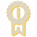 award, badge, medal, trophy, winner icon
