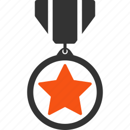 achievement, army reward, award, badge, hero star, heroic, military medal icon