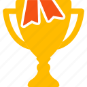 achievement, best, gold cup, prize, reward, sport award, winner icon