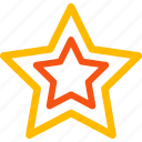 award, contour stars, favorite, gold star, quality, rank, rating icon