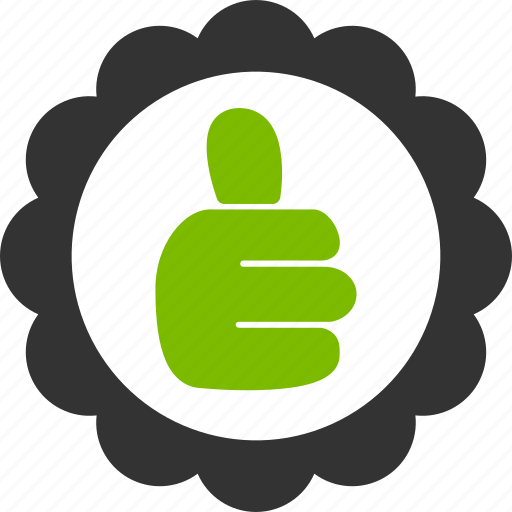 approve, finger, good mark, ok, success, thumb up, yes icon