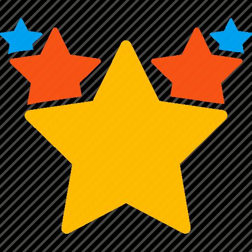 award, favorites, hit parade, rate, rating, star chart, stars icon