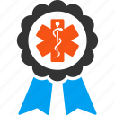 badge, healthcare, medicine, doctor reward, medical award, prize, trophy icon